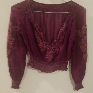 MULBERRY EMBROIDERED BLOUSE